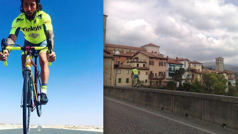 Vittorio brumotti a cividale impenna sul ponte del diavolo for Camino sul ponte rialzato